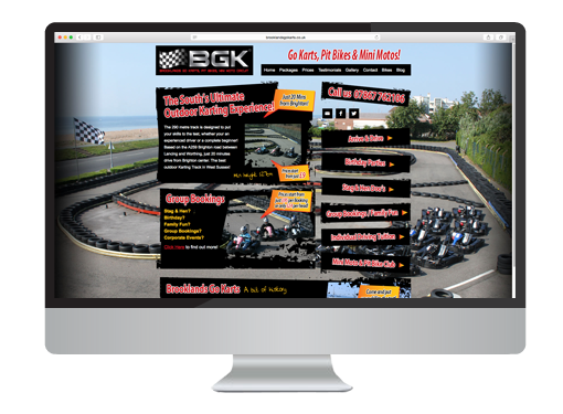 Website Design project for Brooklands Go Karts