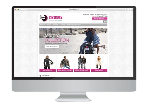 Web Design project for Cissbury Leathers