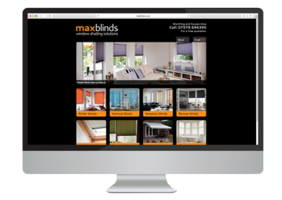 Max Blinds Website Design