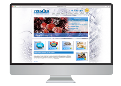 Premier Frozen Foods Website Design