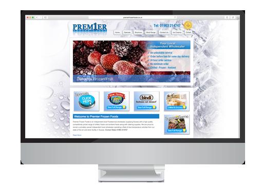 Web Design project for Premier Frozen Foods