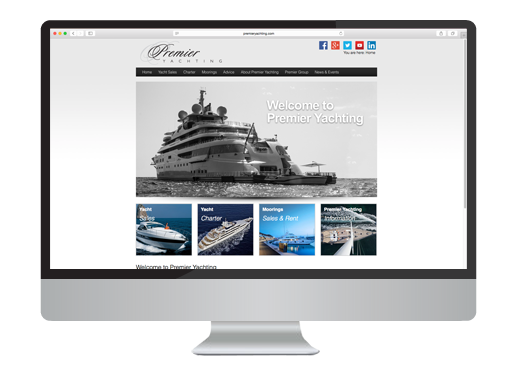 Wordpress Boat Listing Web Design project for Premier Yachting
