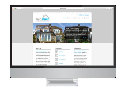 Web Design project for Realbuild