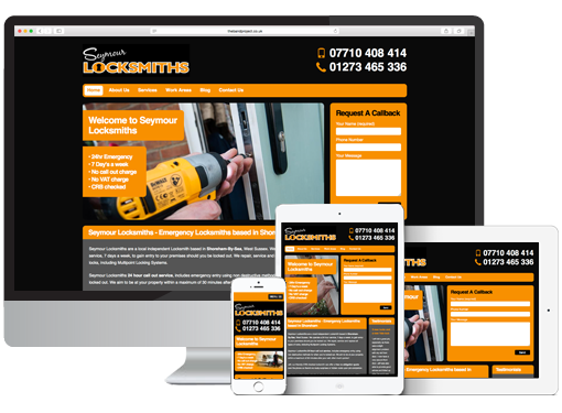 Web Design project for Seymour Locksmiths