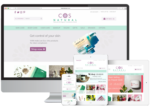 CosNatural Opencart Ecommerce Website