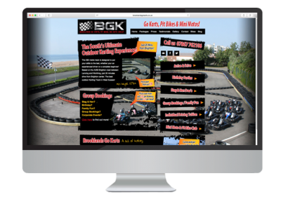 Brooklands Go Karting Website Design