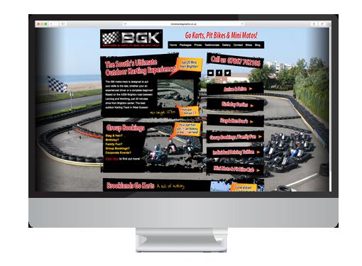 Website Design project for Brooklands Go Karts