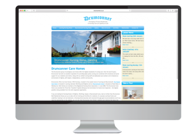 Drumconner Nursing Homes Website Design
