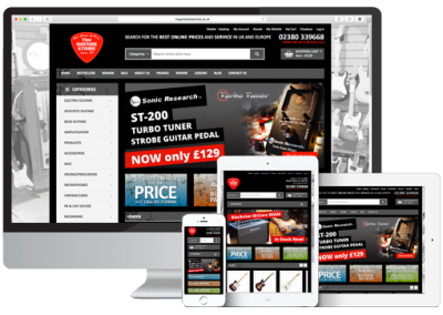 The Guitar Store Magento Website