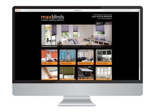 Website Design project for Max Blinds
