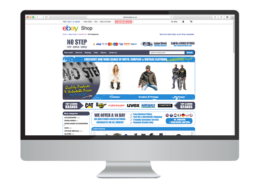 Ebay Web Design project for No Step