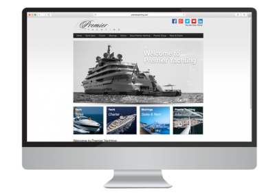 Premier Yachting Website Design