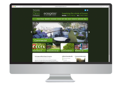 Sussex Artificial Grass Company Website Design
