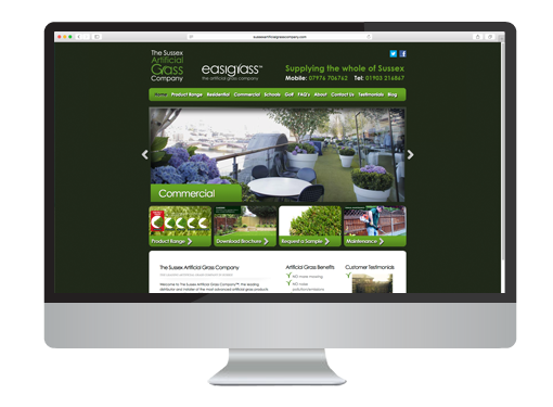 Web Design project for The Artificial Grass Company