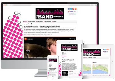 The Band Project Website Design