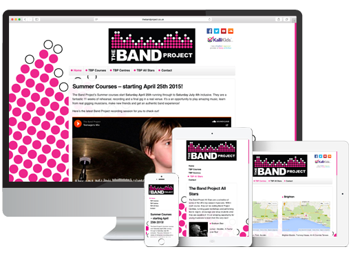 Web Design project for The Band Project