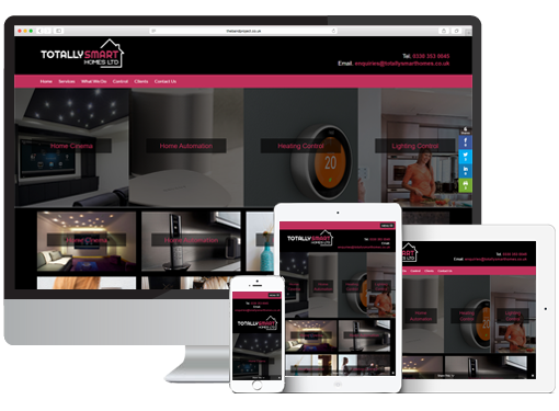 Totally Smart Homes Website Design