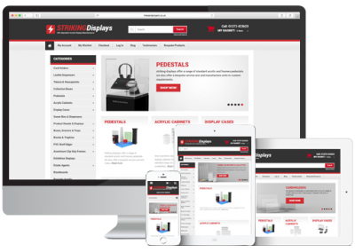 Striking Displays Magento Ecommerce Website