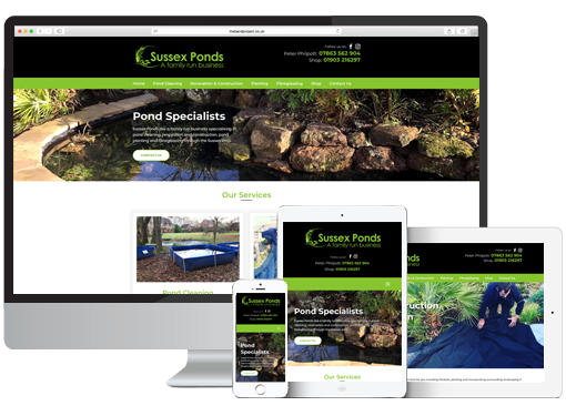 Sussex Ponds WordPress Web Design